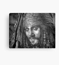 """Johnny Depp-Pirates of the Carribean"" Canvas Print"