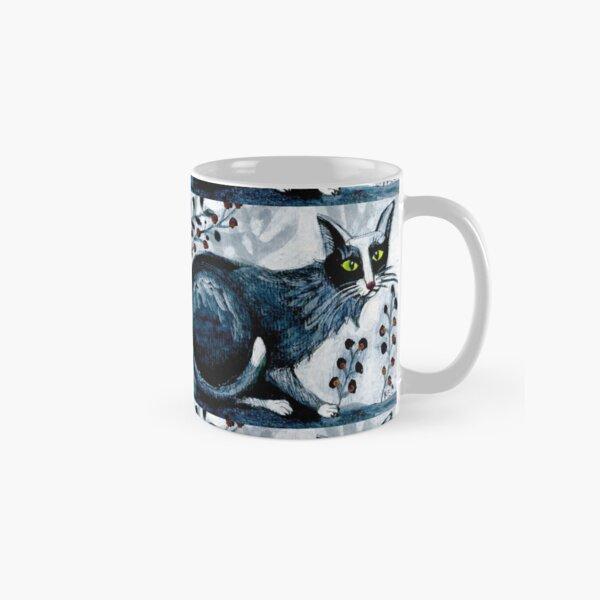 Tuxedo  cat, black cat, pet portrait, cute pets, cat art Classic Mug