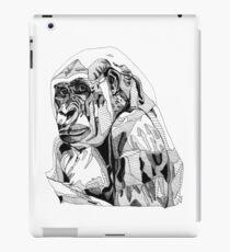 Gorilla Black Tonal Fineliner Drawing iPad Case/Skin