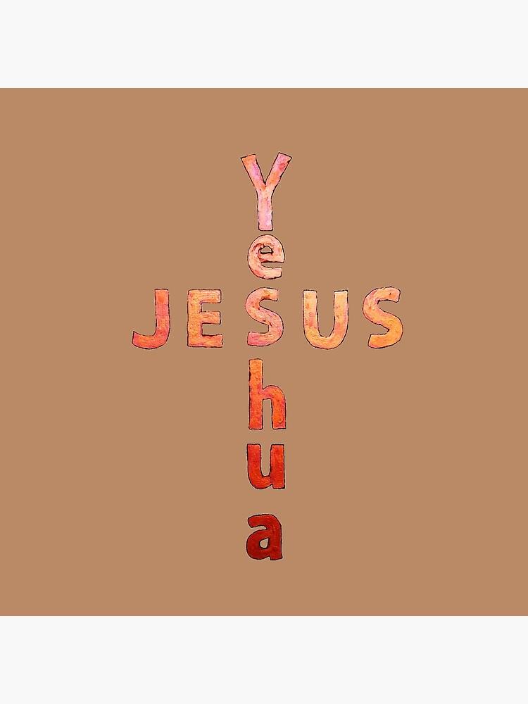 Yeshua Jesus Name Cross by jaynna