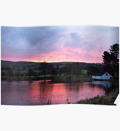 Sunrise At The Fish Farm Poster
