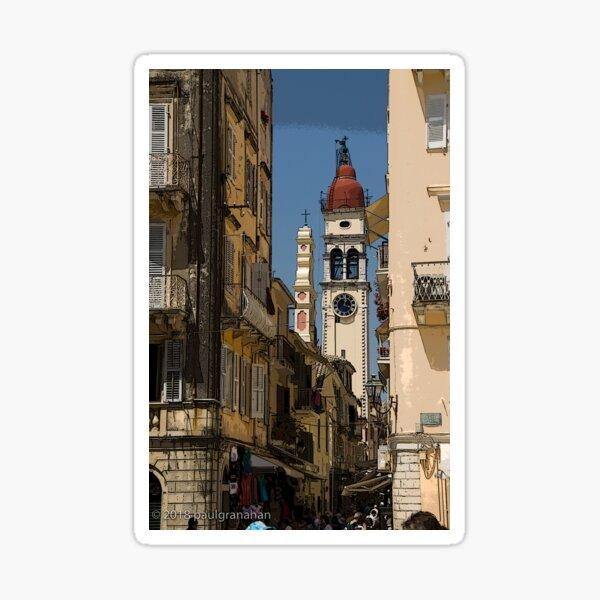 Corfu Town Sticker