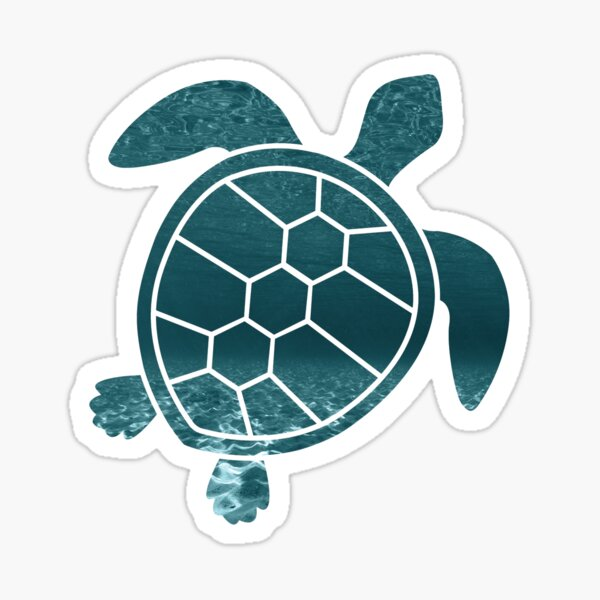 Sea Turtle Sticker - Laptop Sticker - Hydroflask Sticker - Ocean - Cute Sea Turtle - Stocking Stuffer Sticker