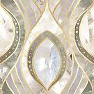 White Quartz & Gold Elegant Pattern by tanyadraws