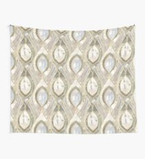 White Quartz & Gold Elegant Pattern Wall Tapestry