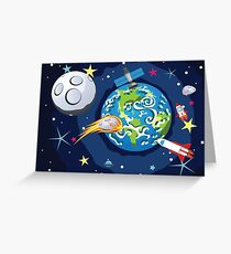 Earth Planet 3 Greeting Card