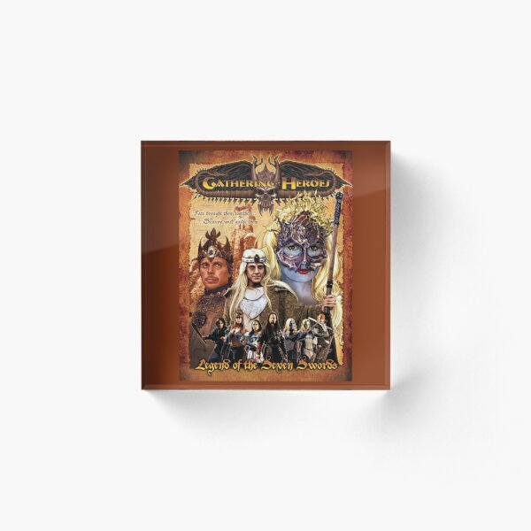 Gathering of Heroes: Legend of the Seven Swords Fantasy Poster Acrylic Block