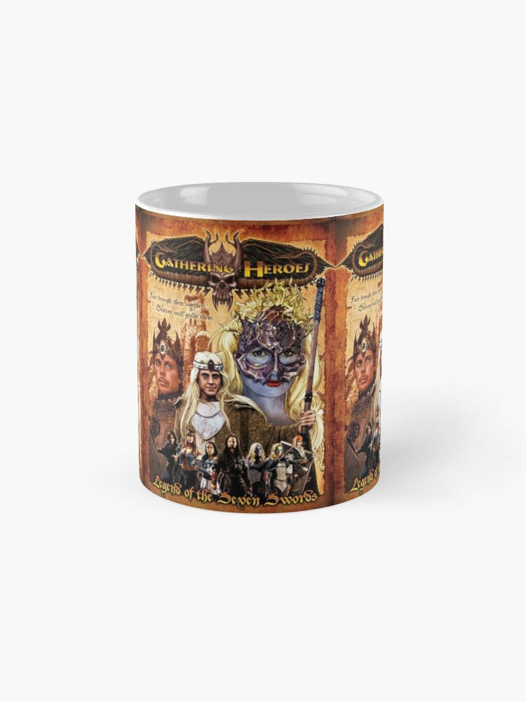 Alternate view of Gathering of Heroes: Legend of the Seven Swords Fantasy Poster Mug