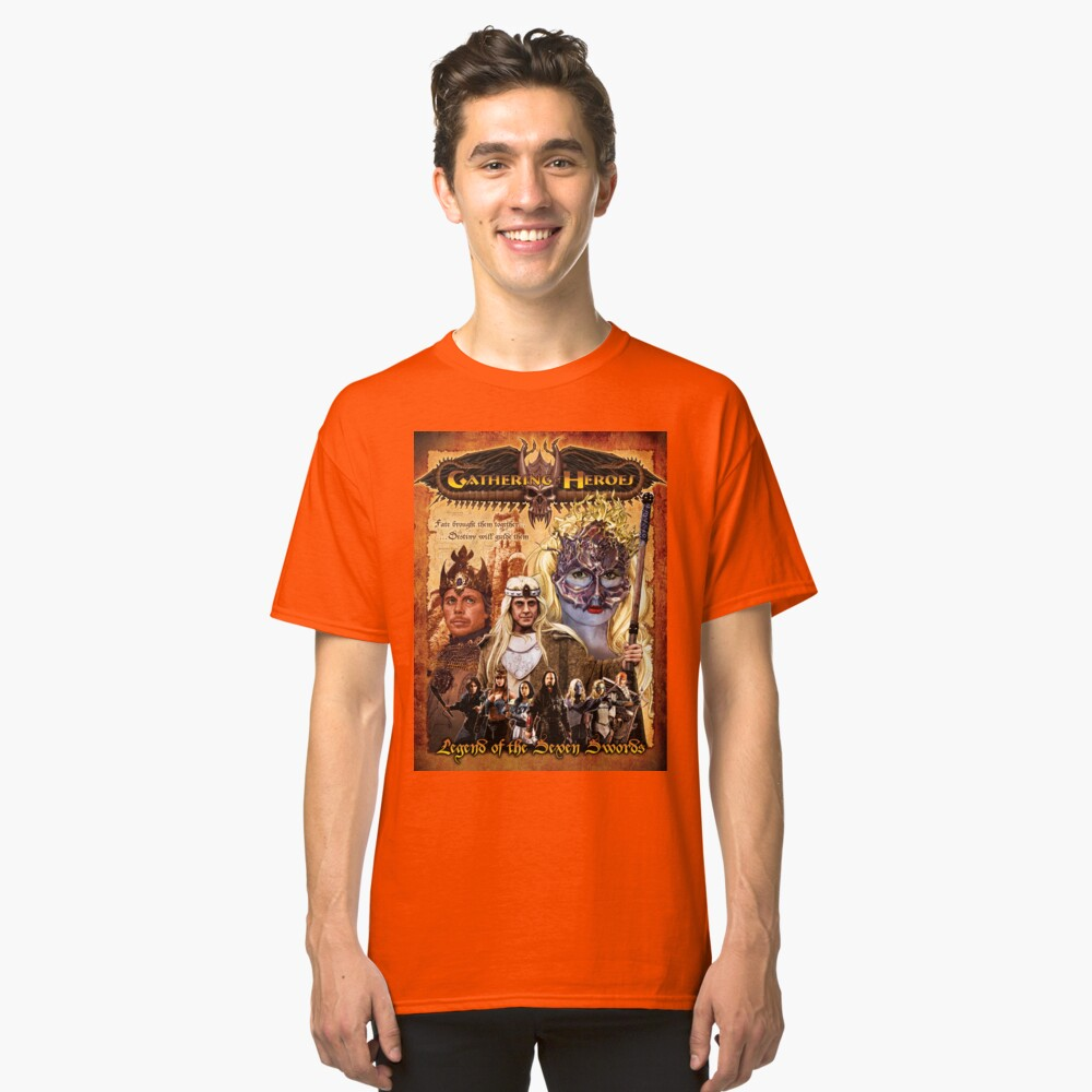 Gathering of Heroes: Legend of the Seven Swords Fantasy Poster Classic T-Shirt