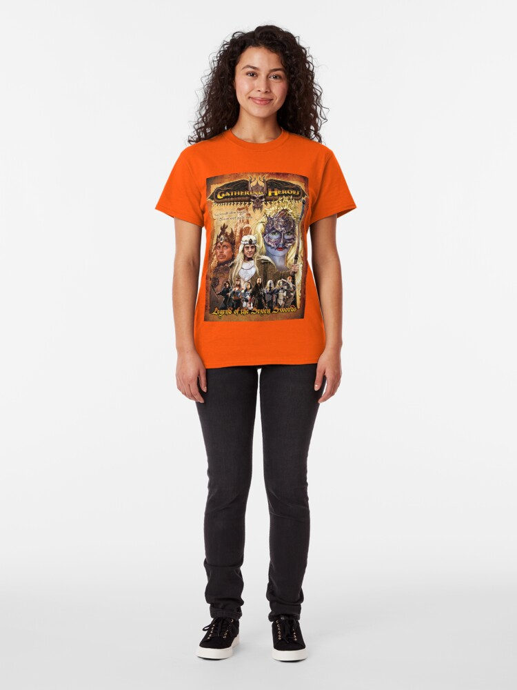 Alternate view of Gathering of Heroes: Legend of the Seven Swords Fantasy Poster Classic T-Shirt