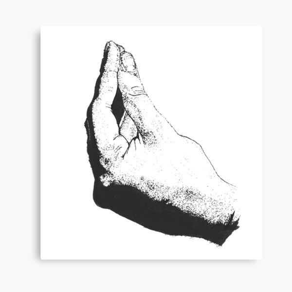 Italian Hand (Black and White)  Canvas Print