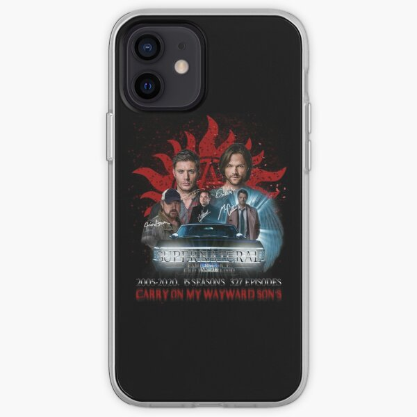 Limited Edition Supernatural Family dont end with Blood 4R Signed iPhone Soft Case