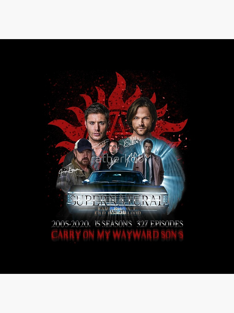Limited Edition Supernatural Family dont end with Blood 4R Signed by ratherkool