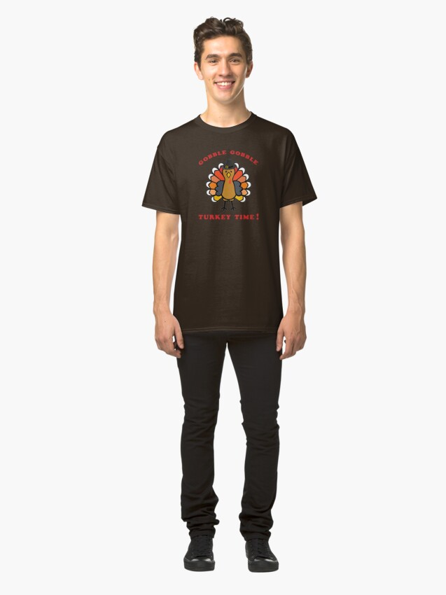 Alternate view of Turkey Time, Fall Colors, Harvest, Thanksgiving. Classic T-Shirt