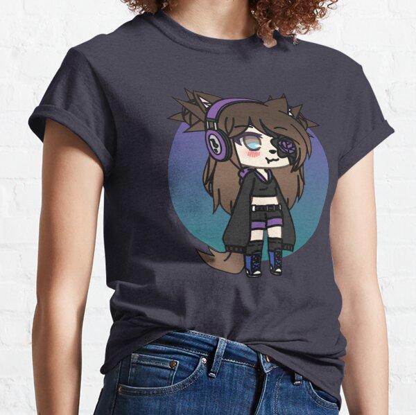 Série Gacha Life - Karin l'étrange fille gothique avec le cache-œil T-shirt classique