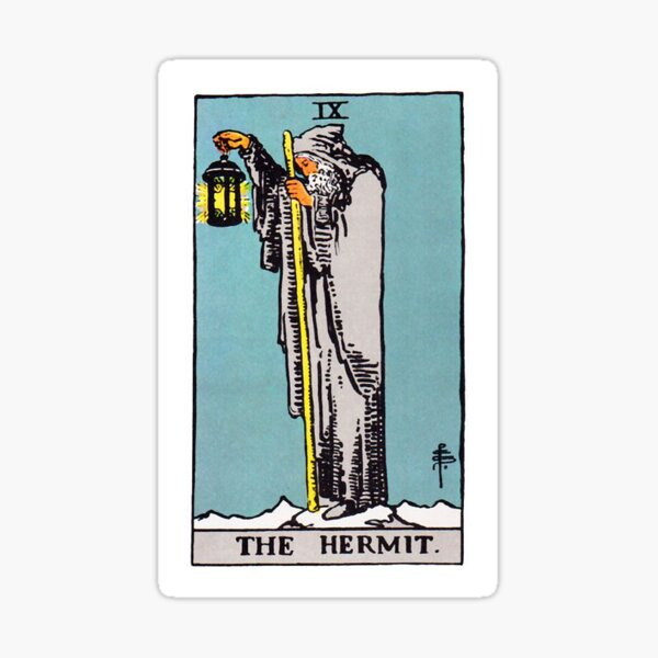 Tarot Hermit Sticker