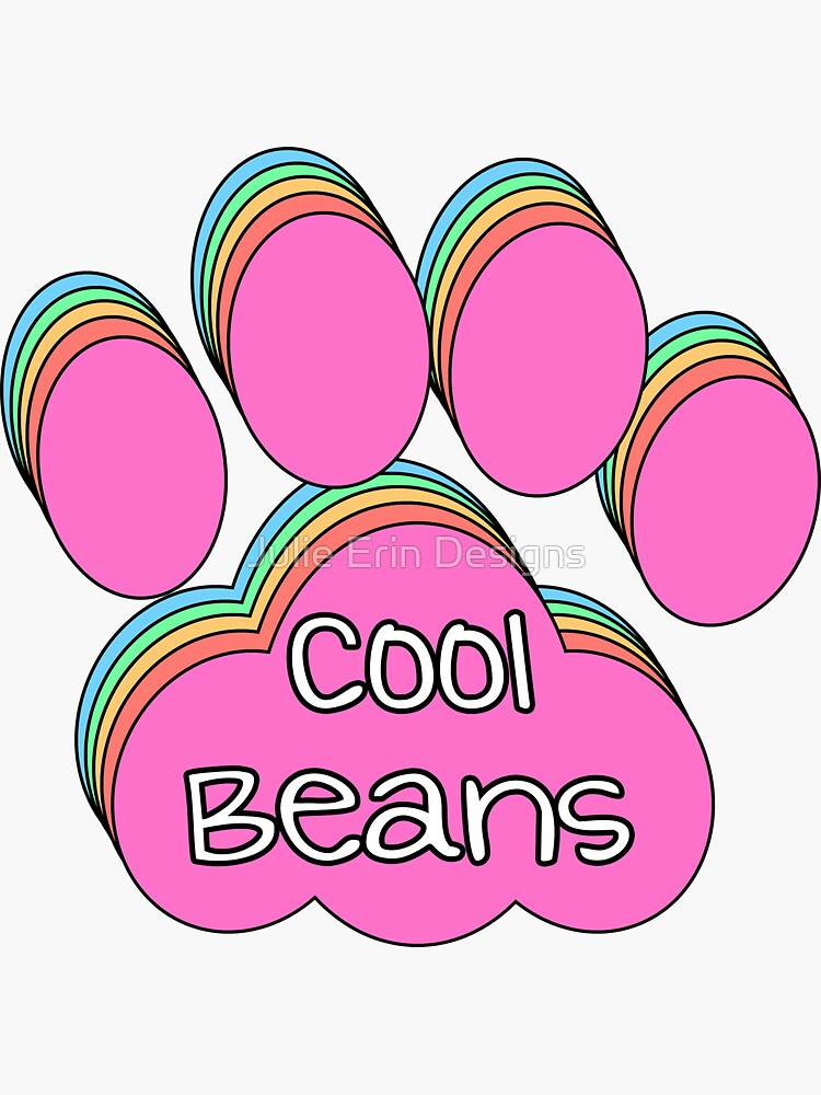 Cool Beans Cat Paw Print by julieerindesign
