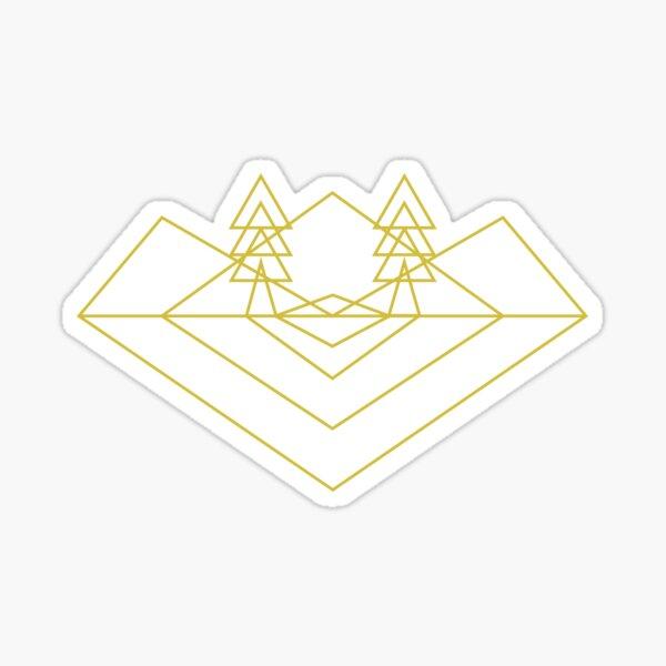 I Fox With Trees - Yellow Sticker