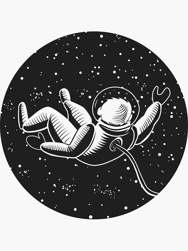 Space Man Astronaut Illustration by Vintage101