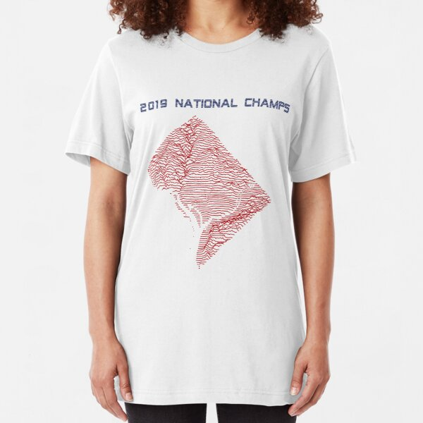 2019 National Champs - Washington DC Retro Slim Fit T-Shirt