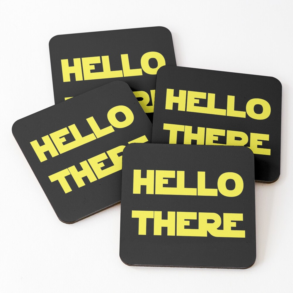 Hello There Coasters (Set of 4)