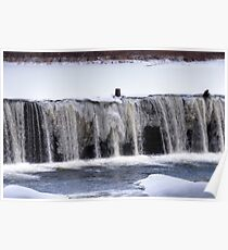 collinsville waterfall Poster