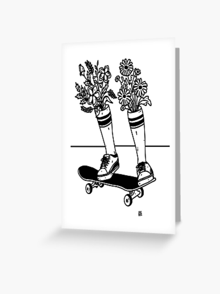 wall art gift print picture Skateboard Ollie Greyscale poster home decor