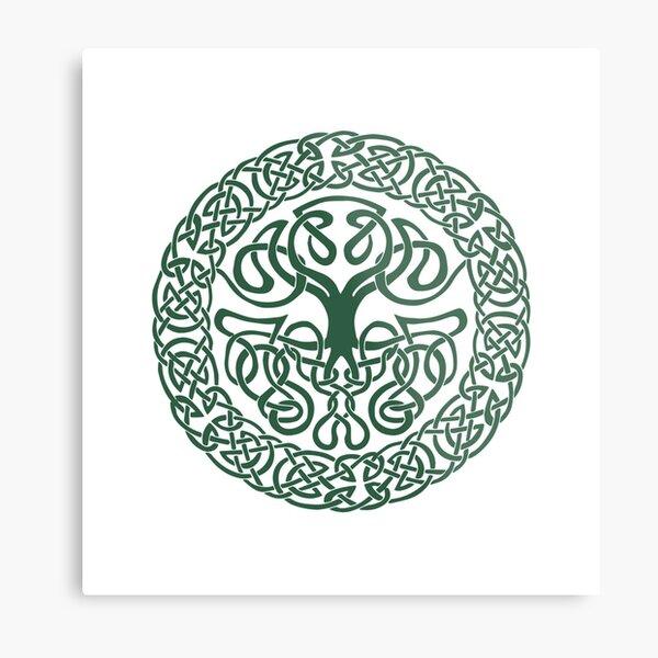 Mythoverse Celtic Tree Logo Metal Print