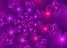 Purple hearts and flowers by inkedsandra