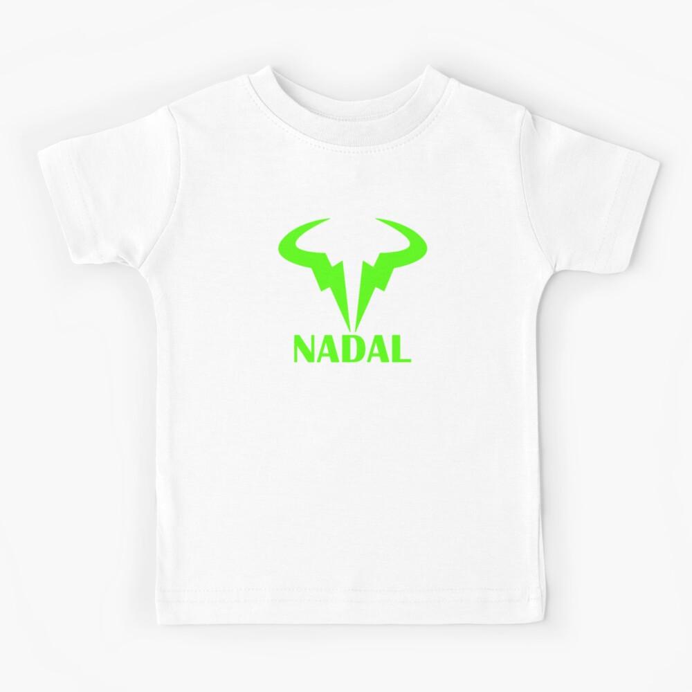 Rafael Nadal Logo Nadal Green Kids T Shirt By Gokuhsandro89 Redbubble