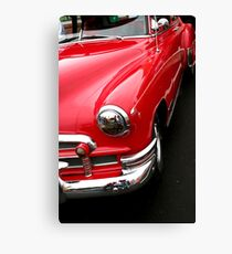 red classic car Canvas Print