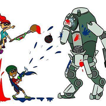 Splatoon vs. Titanfall by beaniebits
