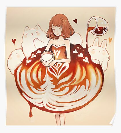 a caffè latte dress. Poster