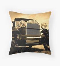 Vintage Automobile Throw Pillow