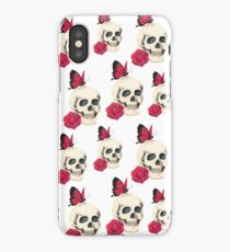 Skull, Rose and Butterfly iPhone Case/Skin