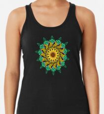 Sunflower Mandala Racerback Tank Top