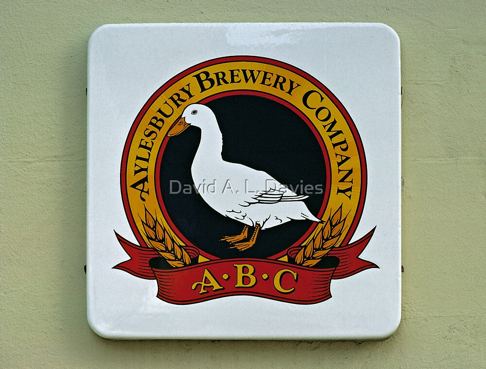 Aylesbury Brewery sign, UK. by David A. L. Davies