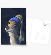 Dog with a pearl earring Postcards