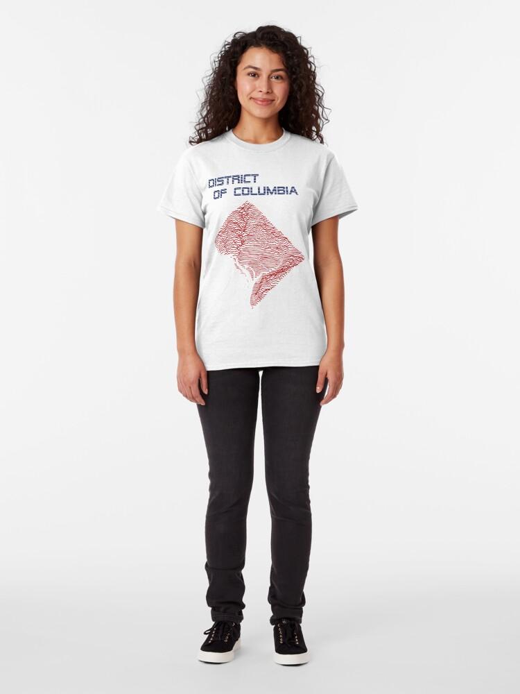 Alternate view of Elevation Pleasures - Retro Washington, DC Classic T-Shirt