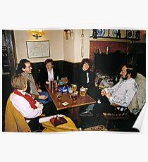 Cosy pub scene, England, 1980s. Poster