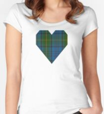 00321 Donegal County Tartan Women's Fitted Scoop T-Shirt