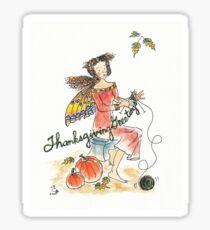 Thanksgiving Greetings - The Knittington Fairies Sticker