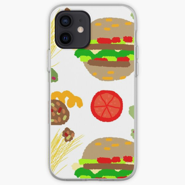 Burgers and macaroni iPhone Soft Case