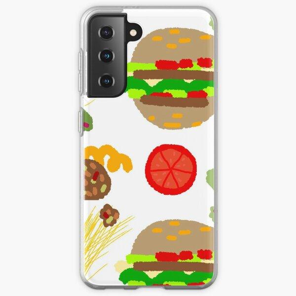 Burgers and macaroni Samsung Galaxy Soft Case