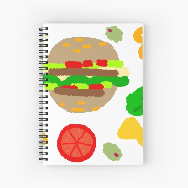 Burgers and macaroni Spiral Notebook