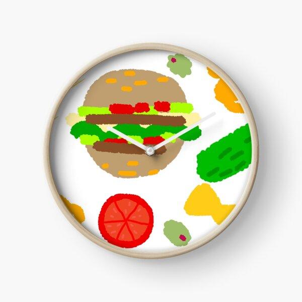 Burgers and macaroni Clock