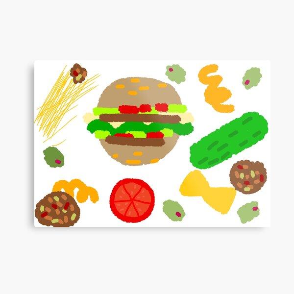 Burgers and macaroni Metal Print