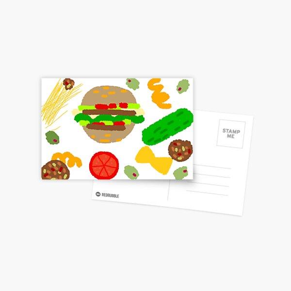 Burgers and macaroni Postcard