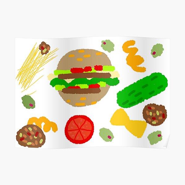 Burgers and macaroni Poster