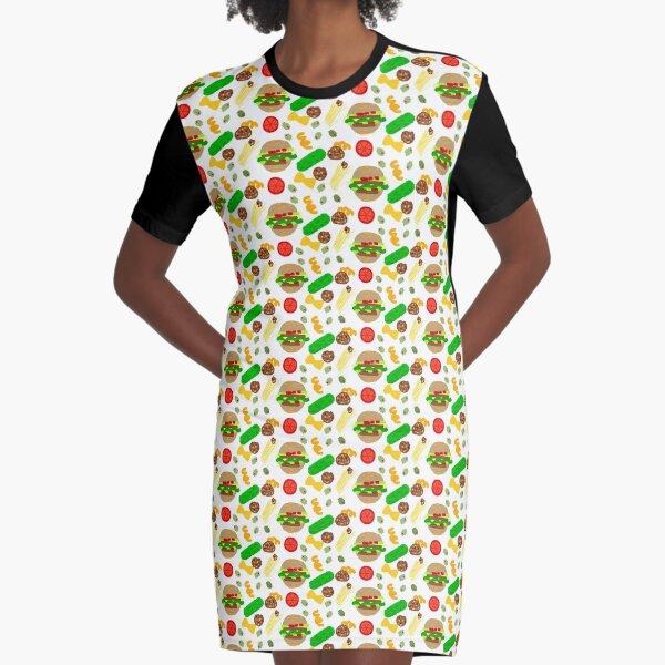 Burgers and macaroni Graphic T-Shirt Dress